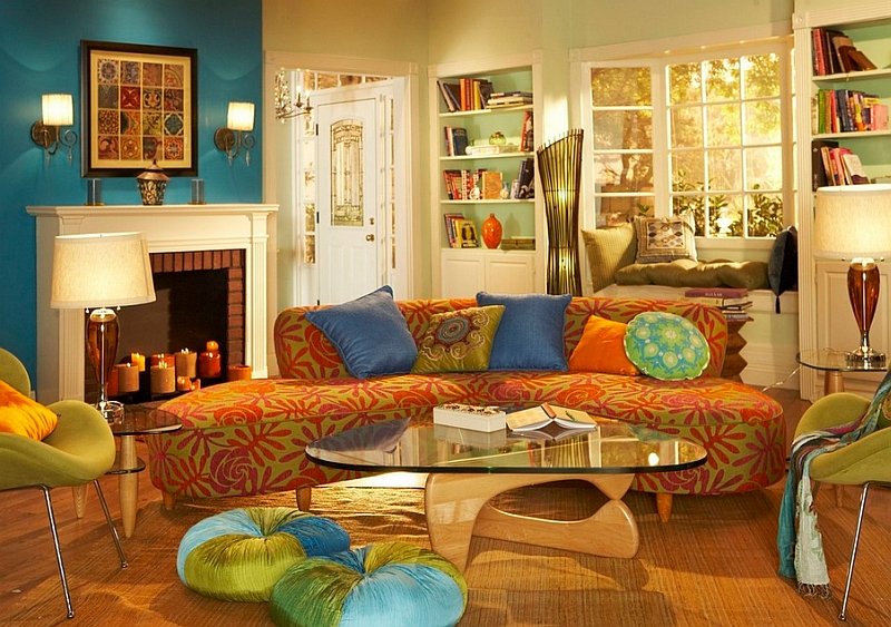 Bohemian Approach To Colors In A Living Room