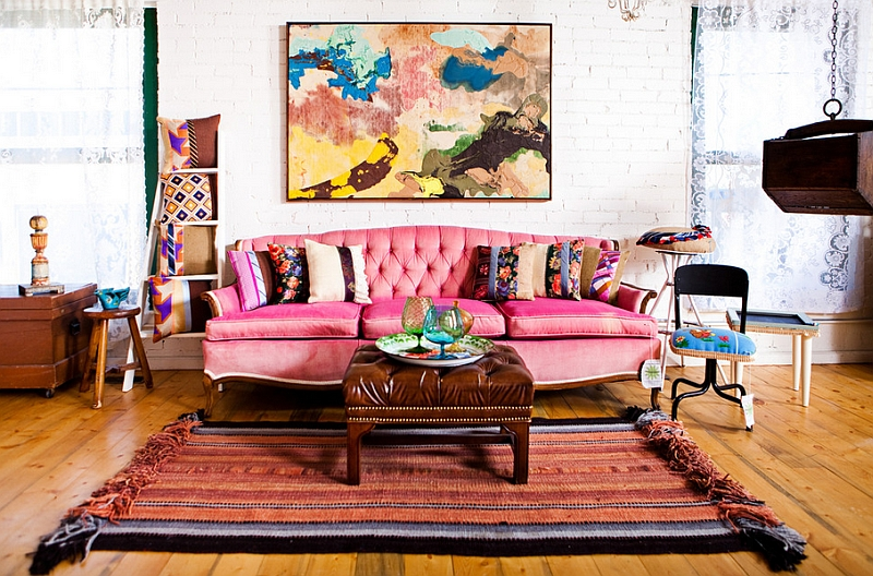 Eclectic And Bohemian Style Mixture In A Super Living Room