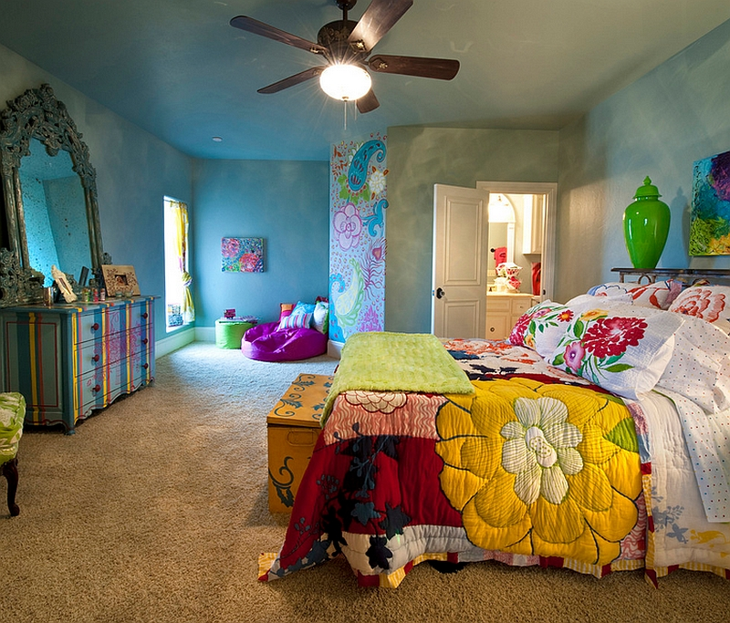 Colorful Bedroom Design Capturing a Bohemian Vibe