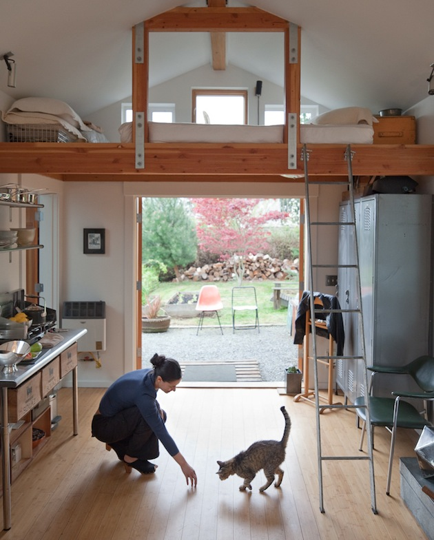 Garage Converted Into A Wonderful Small Dream Home By