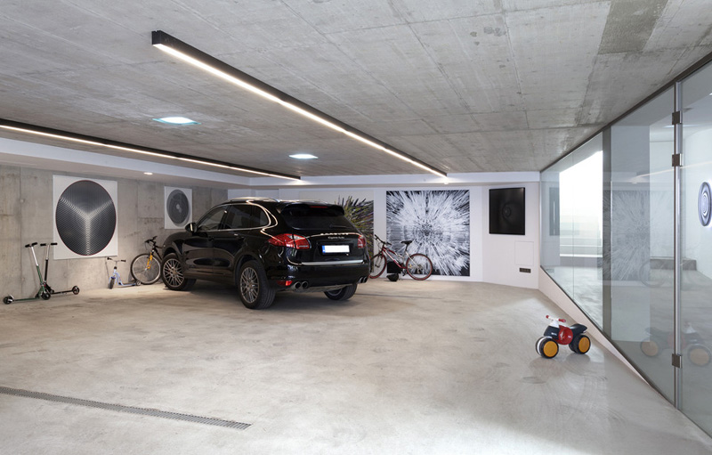 three cars garage Home Spa Extension- Relaxing and Rejuvenating Attractor by architekti.sk