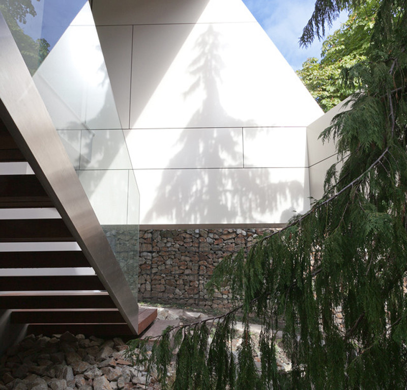 staircase access and detail shot Home Spa Extension- Relaxing and Rejuvenating Attractor by architekti.sk