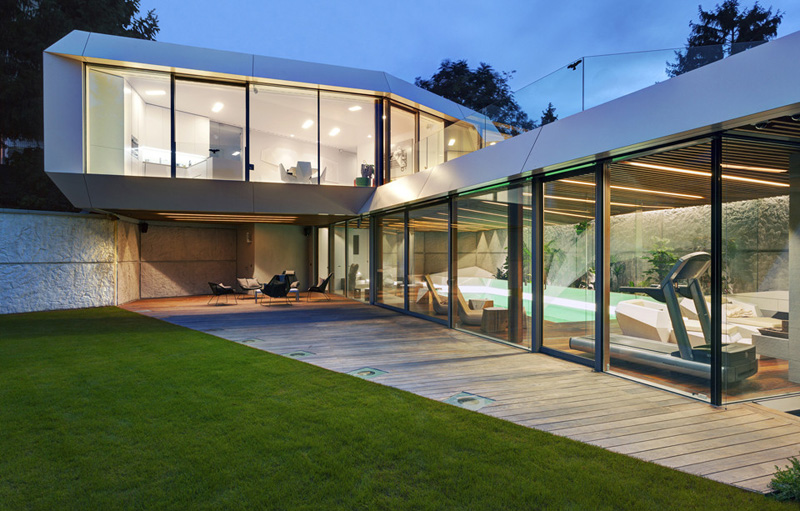 detail Home Spa Extension- Relaxing and Rejuvenating Attractor by architekti.sk