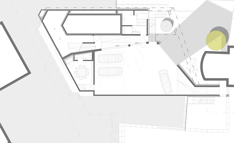 Home Spa Extension- blueprint floor plan section plan and ground floor