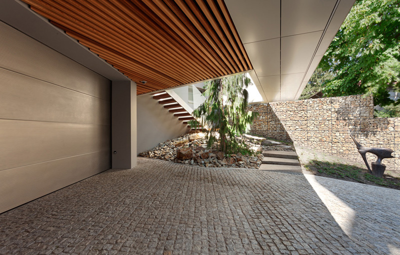 garage access Home Spa Extension- Relaxing and Rejuvenating Attractor by architekti.sk