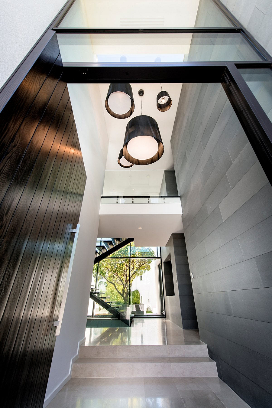 Large Pendants Working as Accents and Focal Points in the Hallway