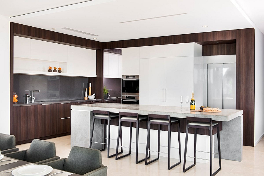 Sleek Bar Stools Enhancing the Contemporary Appeal of the Kitchen