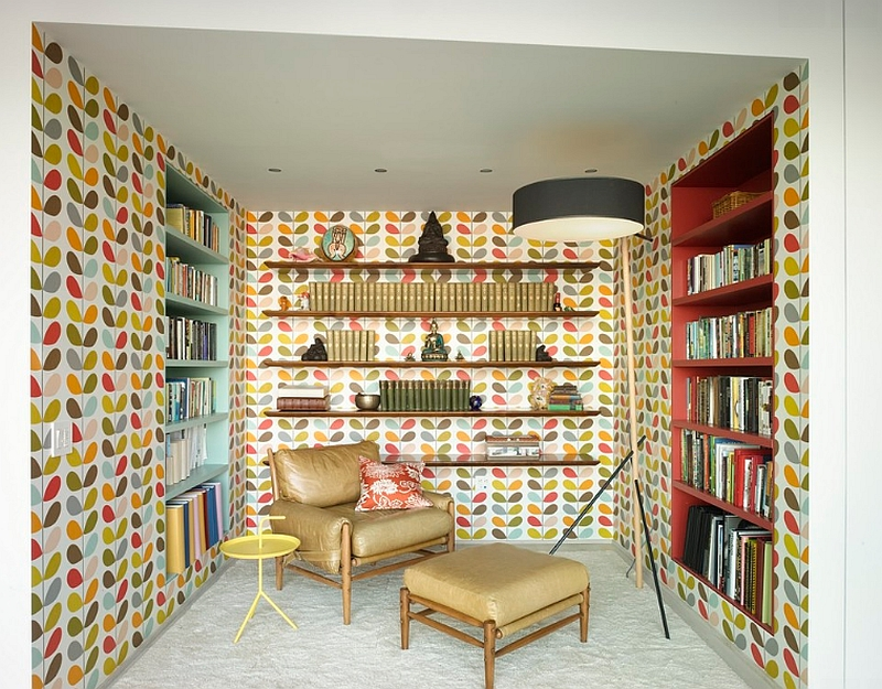 Smart Study Steals With a Colorful Wallpaper