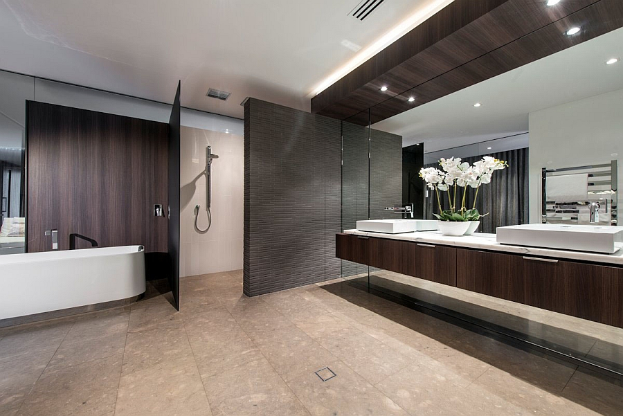 Spa Like Bathroom With Highly Textured Wall