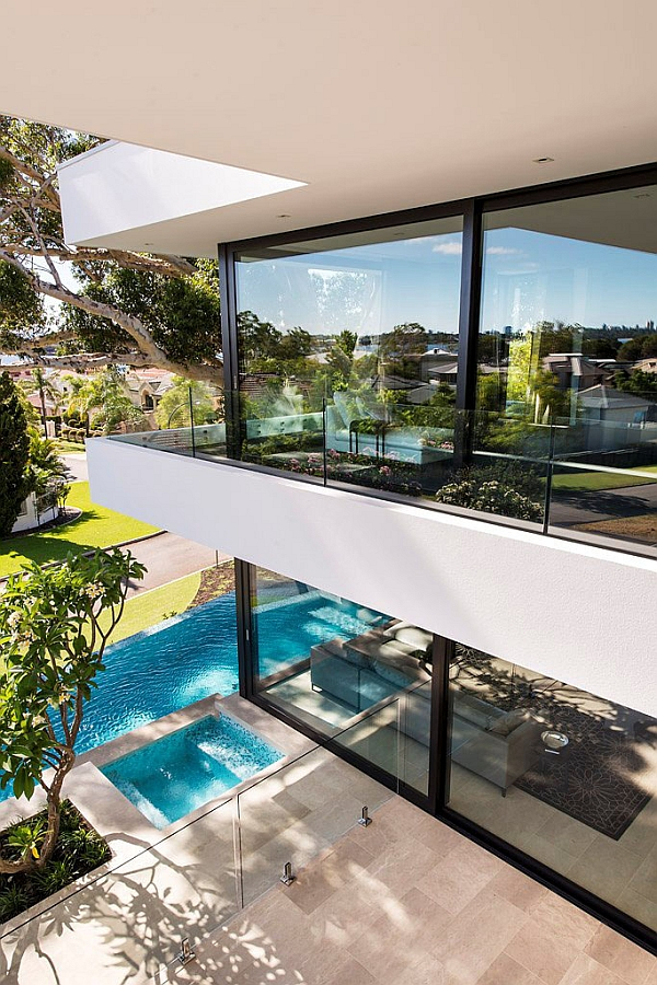 Beautiful View From the Private Balcony of the Perth Residence