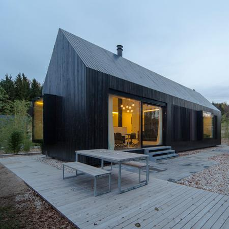 Format Elf Architektenu0027s Blackened Timber Cottages For A German Resort