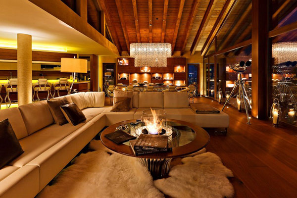 cozy and warm rustic living room design