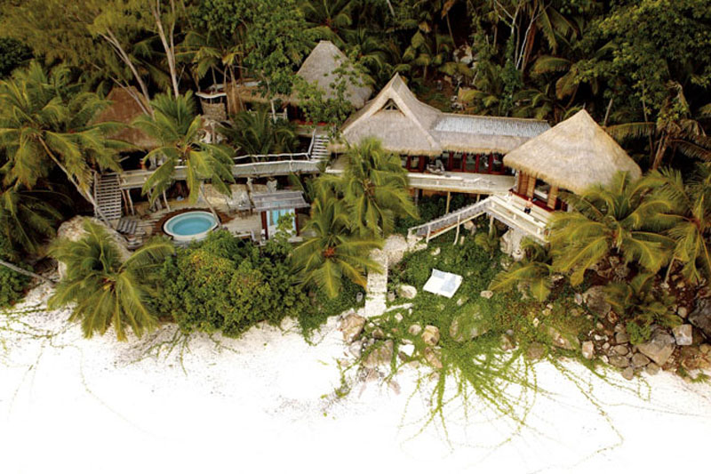 extraordinary view from above of the North-Island-Villa-Seychelles