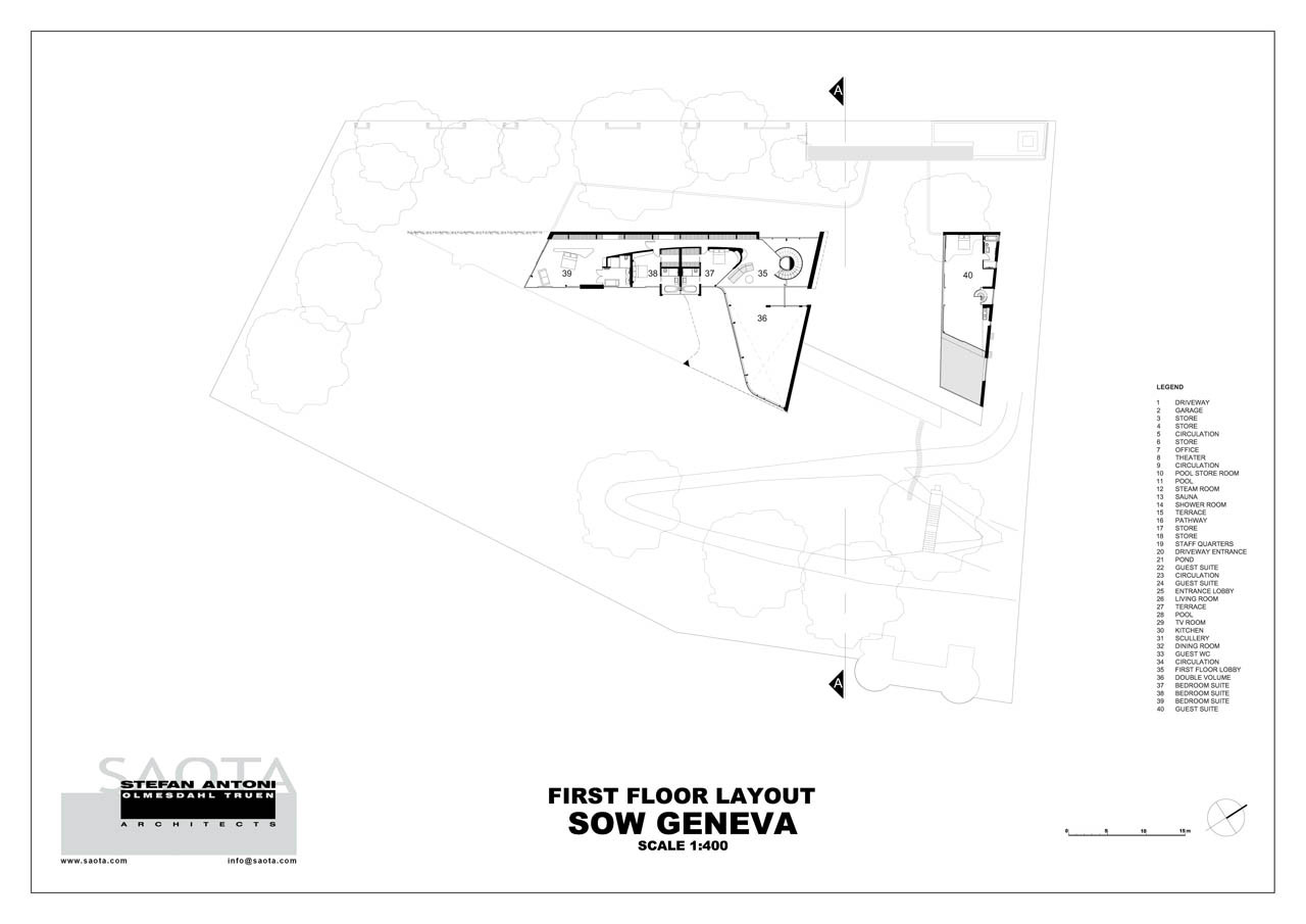 floor plan blueprint section plane through Outdoor-Oriented Dream HomeOffice Influenced by African Aesthetic Values