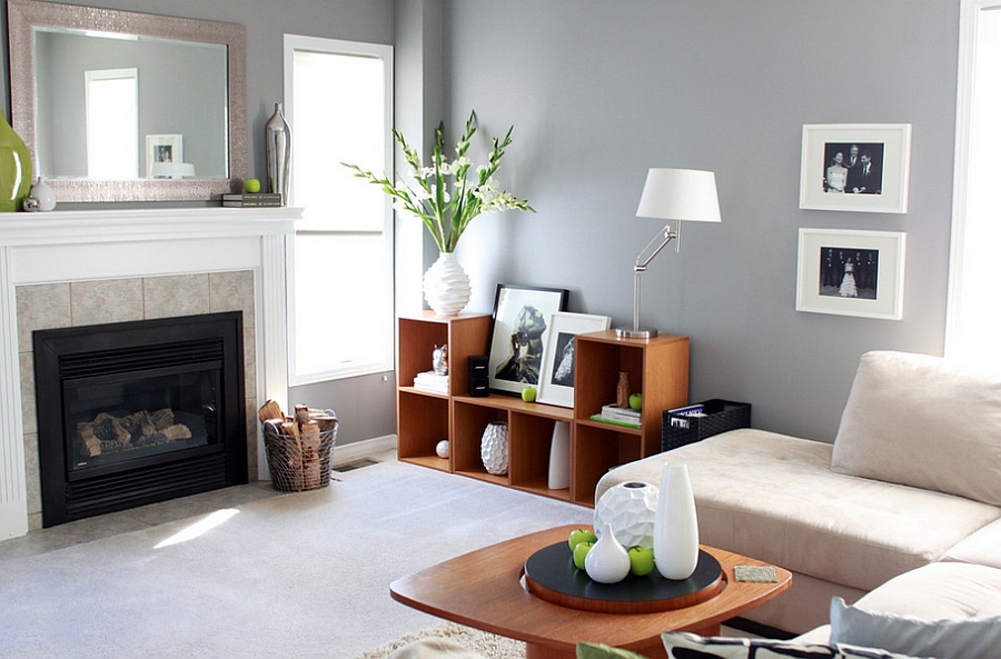 Trendy Living Space Looking Dashing With Subtle Green Accents