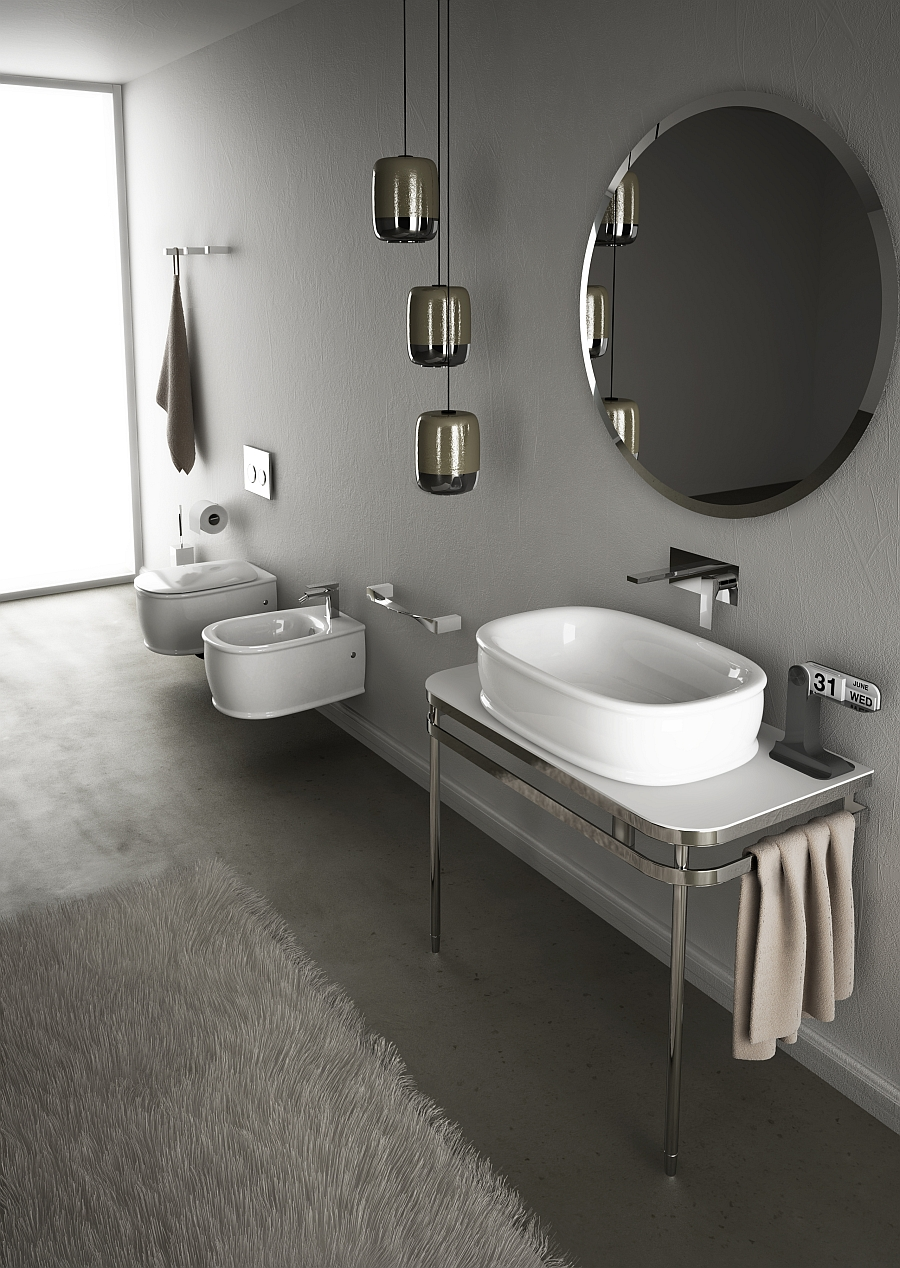 immaculate Wall-Hung-Sanitary-Fixtures-For-Small-Space-Conscious-Bathroom-Designs