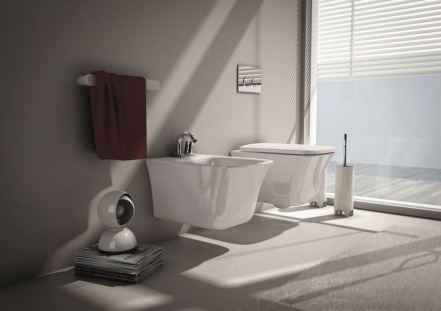 smooth and clean Wall-Hung-Sanitary-Fixtures-For-Small-Space-Conscious-Bathroom-Designs