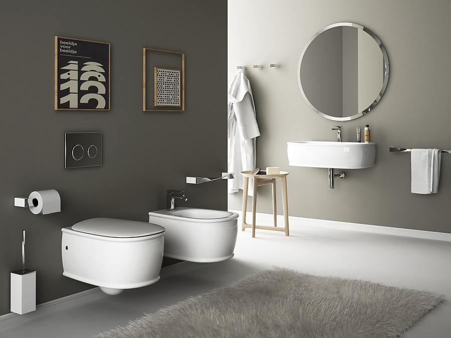 impeccable Wall-Hung-Sanitary-Fixtures-For-Small-Space-Conscious-Bathroom-Designs