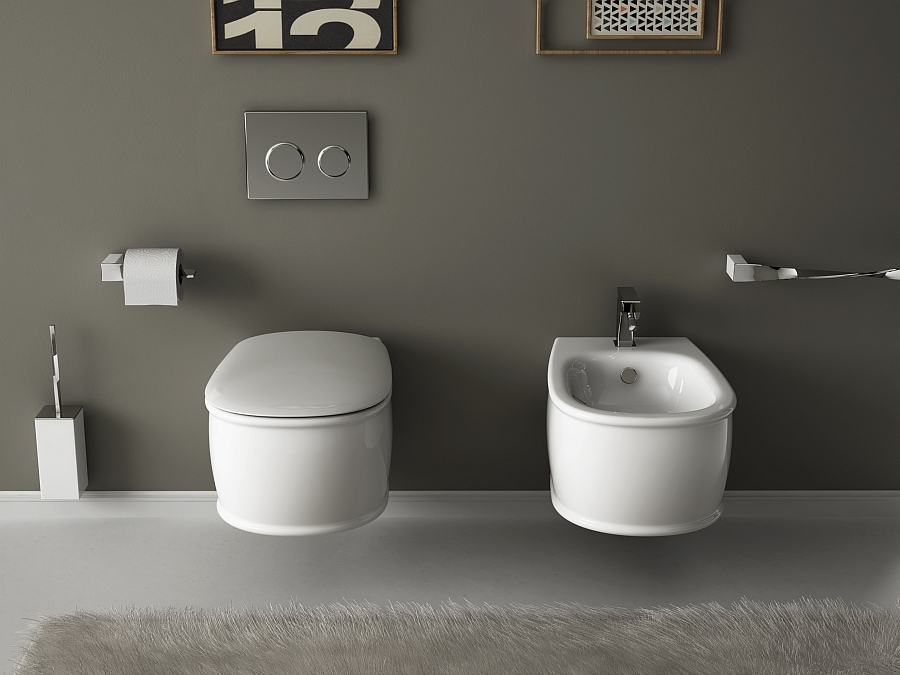 white Wall-Hung-Sanitary-Fixtures-For-Small-Space-Conscious-Bathroom-Designs