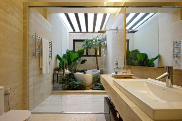 Breathing Tropical Master Bathroom