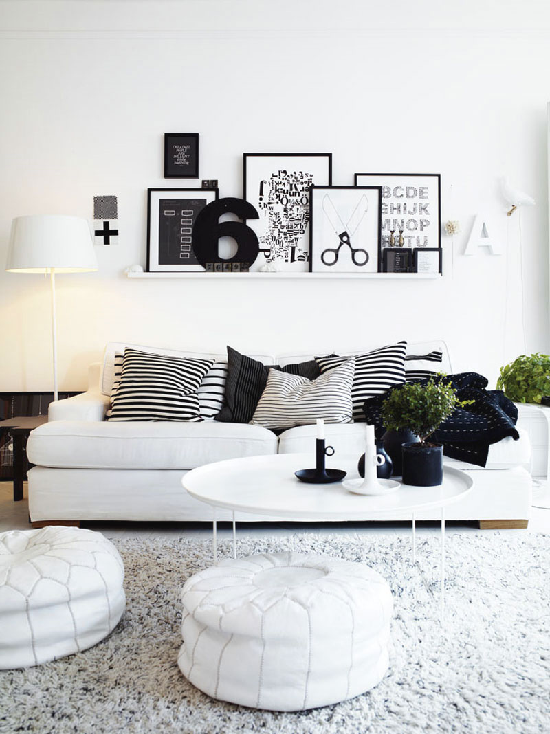 25 Black and White Glamour Decor Inspirations 11
