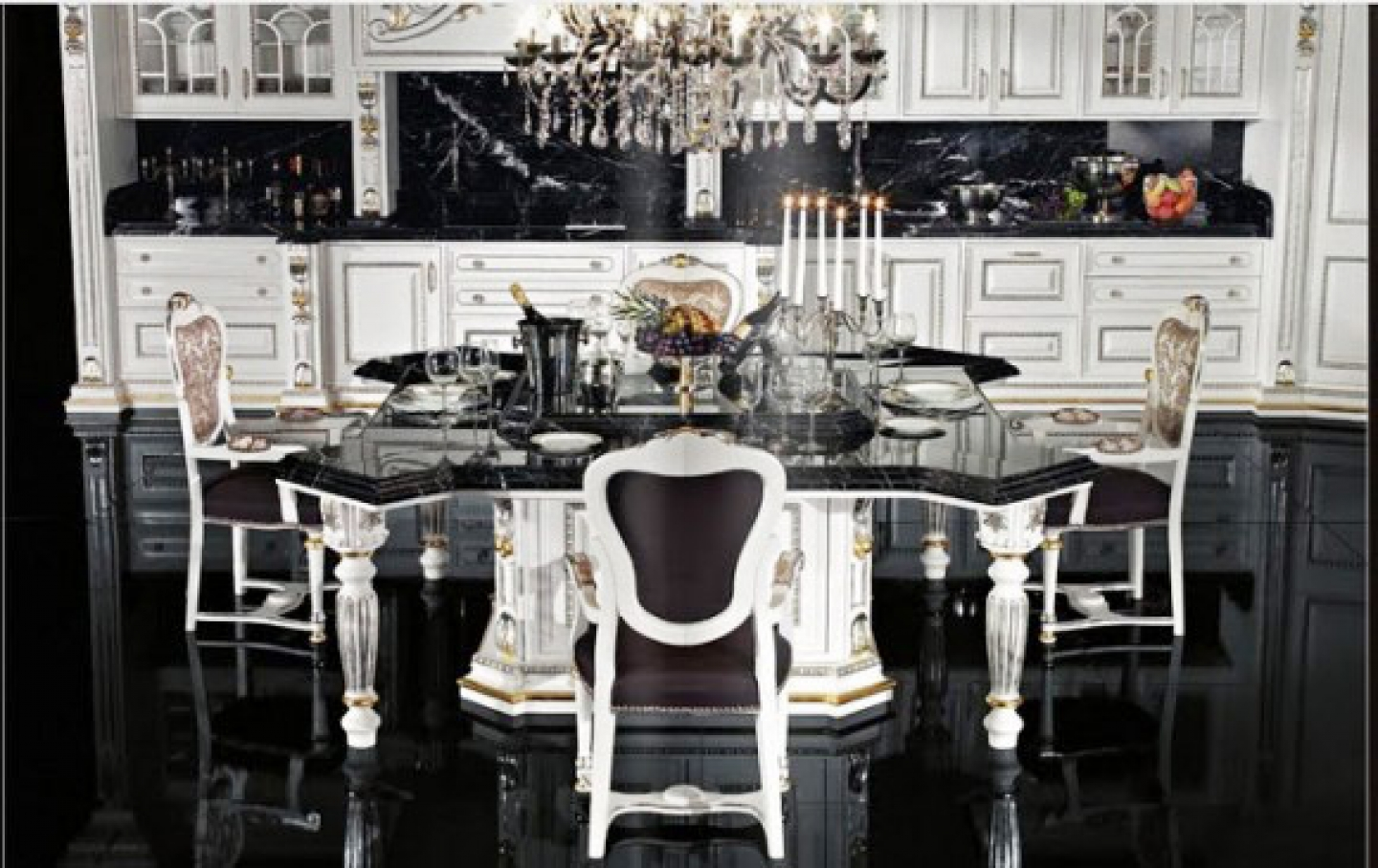 25 black and white decor inspirations for Black and white kitchen cabinet designs