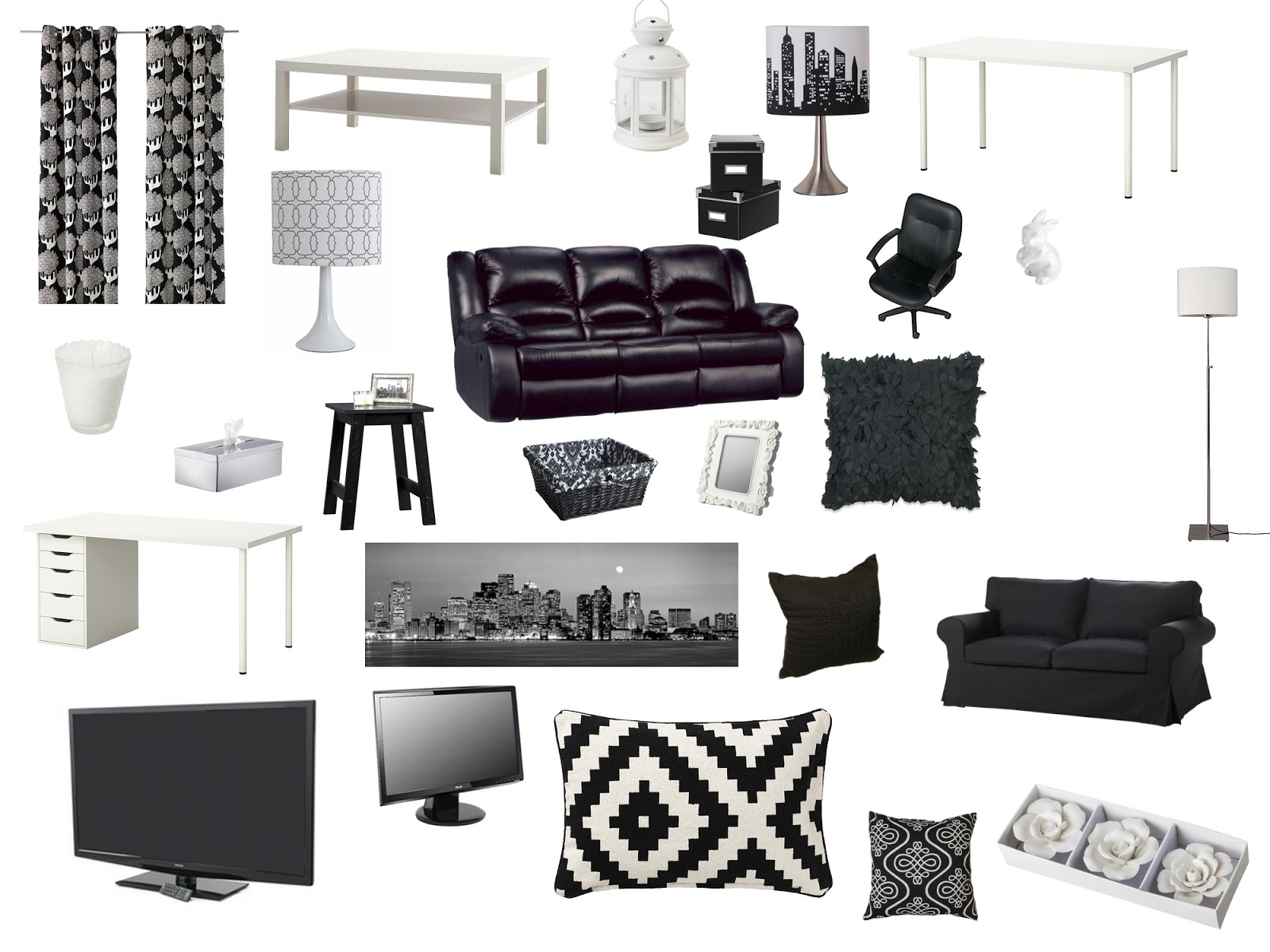 25 Black And White Glamour Decor Inspirations 26