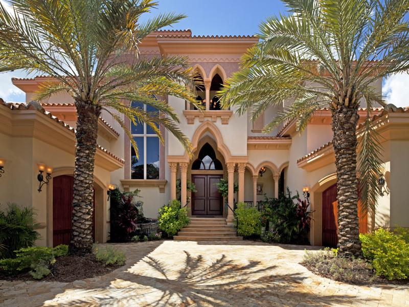A Mediterranean Modern Mansion Designed In Moorish Style