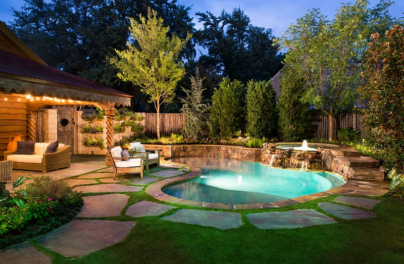 Perfect Natural Pool Setting For A Modest Small Backyard