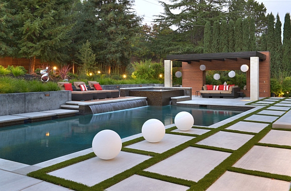 Perfect Pool Waterfall Idea for The Minimalist Lover