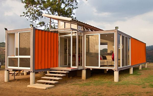 Access Into an Elevated Container Home