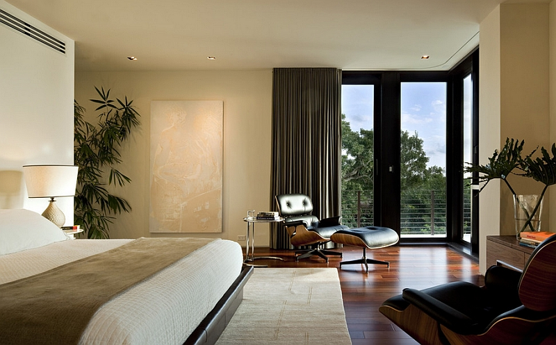 A Spectacular Snapshot For The Contemporary Corner Bedroom