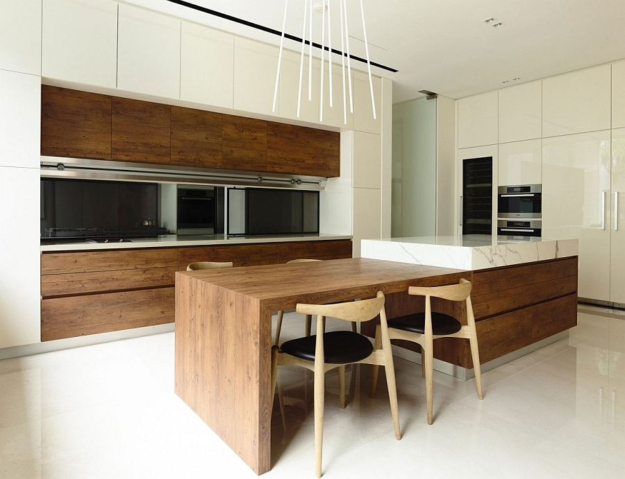 perfect kitchen interior design in white and wood