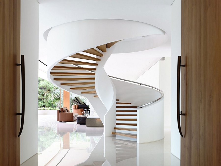perfect round spiral staircase