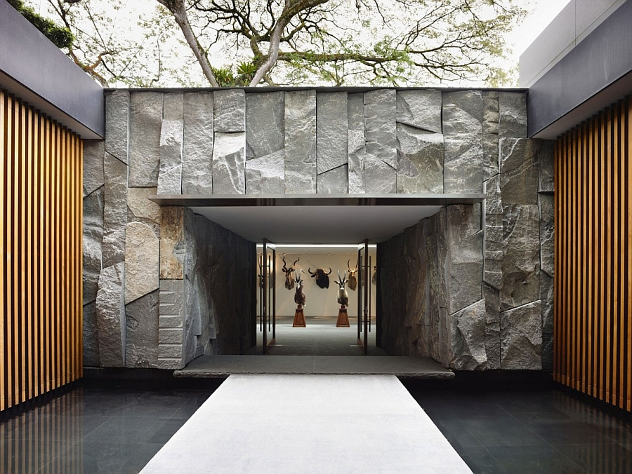 access in the  Private Residence In Singapore With Enahance by Nature