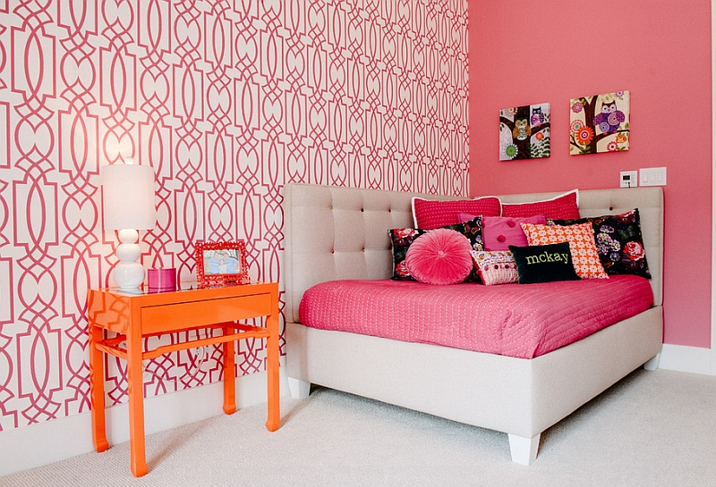 Highly Colorful Kids Room with a Cool Corner Bed
