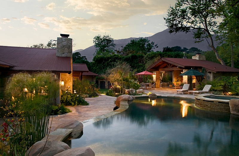 backyard landscaping ideas natural pools shaping an
