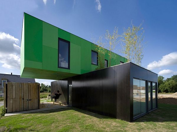 Green Shipping Container Home
