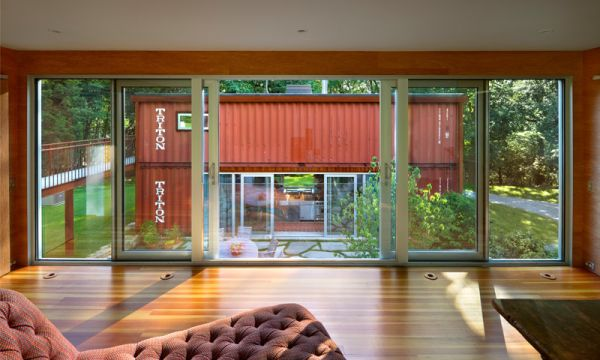 Massive Use of Glass Allowing Natural Light and Ventilation
