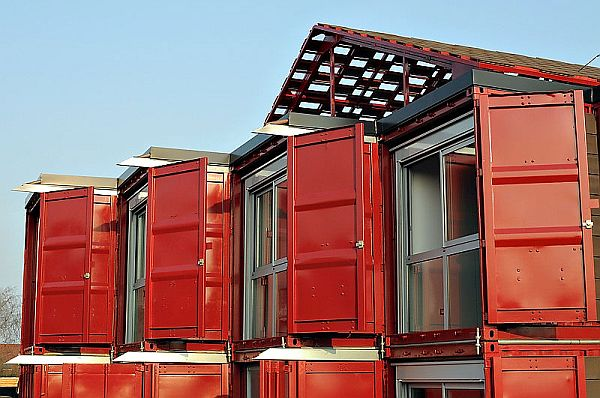 Shipping Containers Left Intact to Enhance Privacy