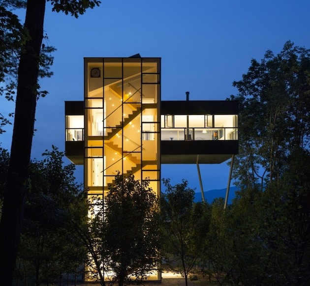 Excentric Glass Tower Modern Home in New York by Gluck+ Architects