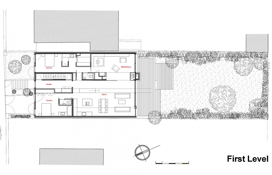 Minimalist eco sustainable house charms with a green for Eco friendly floor plans