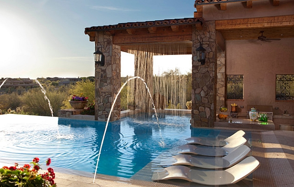 Charming Spectacular Pool Waterfalls To Fashion Every Backyard