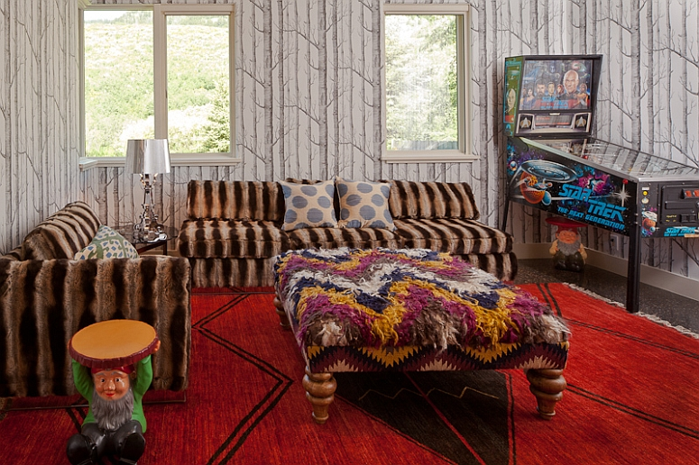 A Gnome Adding a Stylish Playfulness to the Colorful Family Room