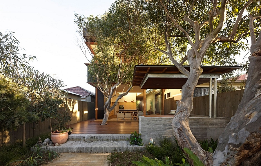 Jaw Dropping Access into The Sydney House Embedded in Vegetation