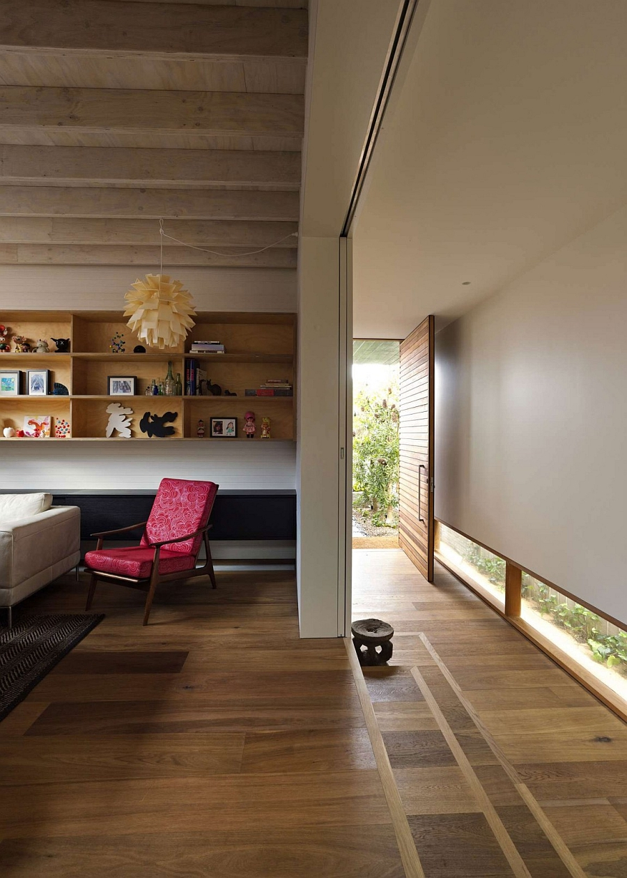 Living Room Area in the Sydney Residence on an Elevated Platform
