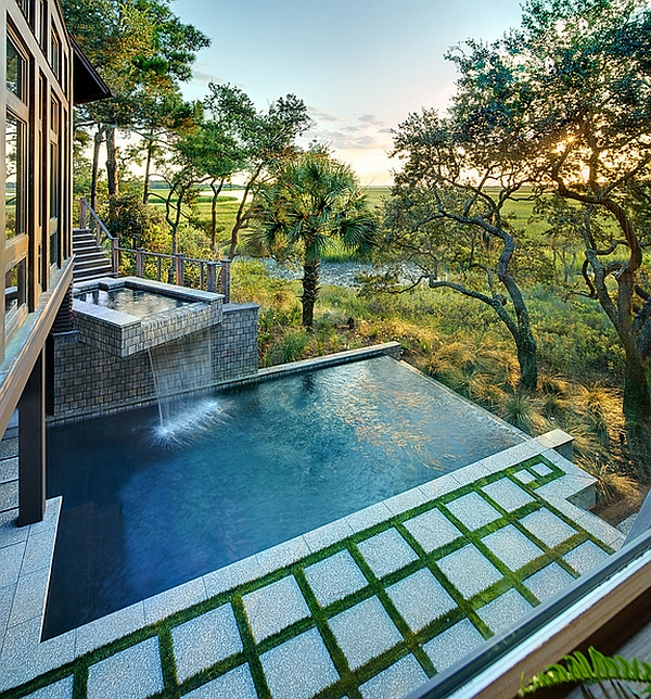 Charming & Spectacular Pool Waterfalls To Fashion Every Backyard ...