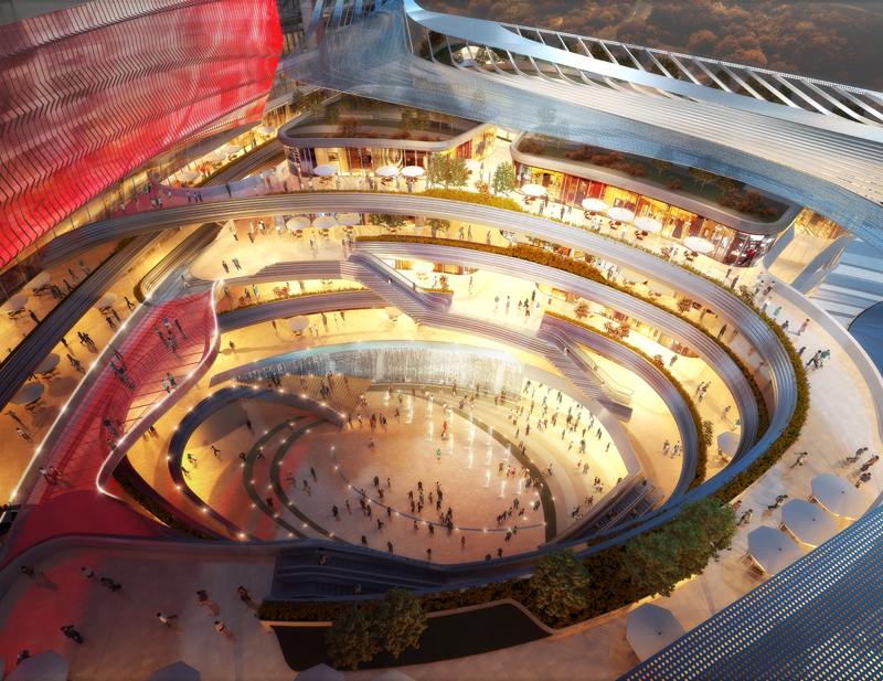 New Futuristic Destination Lifestyle Centre for Kunming Envisioned by Woods Bagot homesthetics (4)