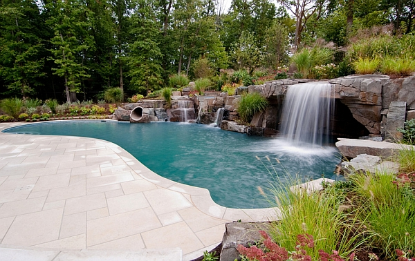 Charming spectacular pool waterfalls to fashion every for Quiet waters retreat