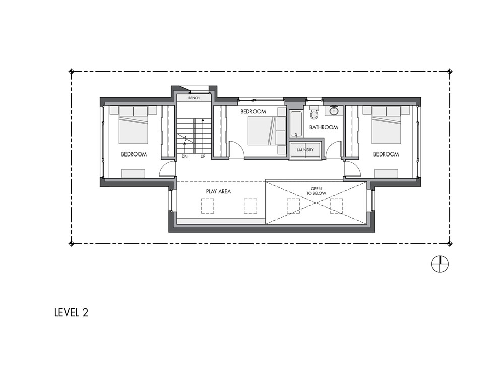 blueprint floor plan section plane through Seattle's-1st-Certified-Passive-House-Family-Home-